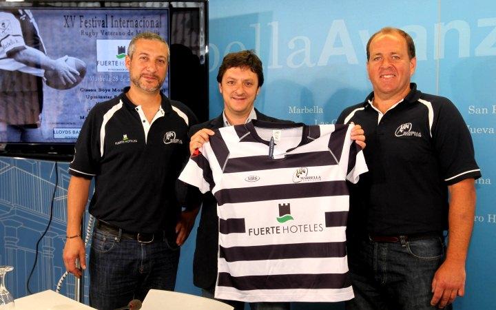 Presentación del XV Festival Internacional 'Fuerte Hoteles' Rugby Veterano de Marbella en el Ayuntamiento de Marbella.
