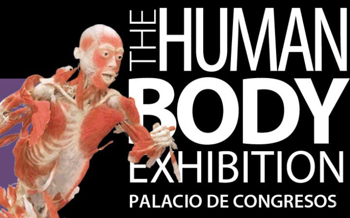 Plakat der Human Body Exhibition