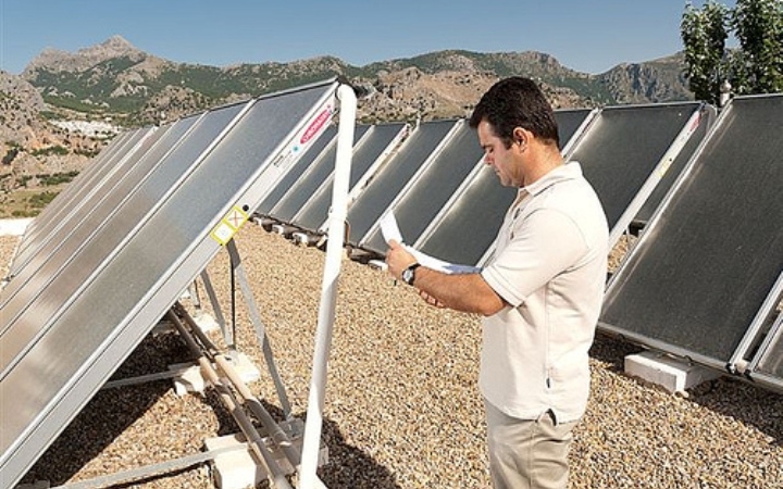 Solar panels in Fuerte Grazalema hotel