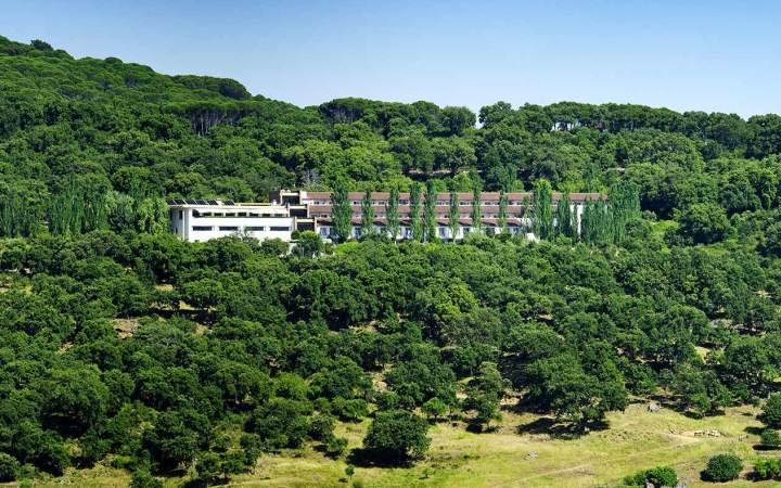 A cork oat forest surrounding Fuerte Grazalema Hotel