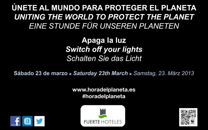 Fuerte Hoteles participa cada año en La Hora del Planeta