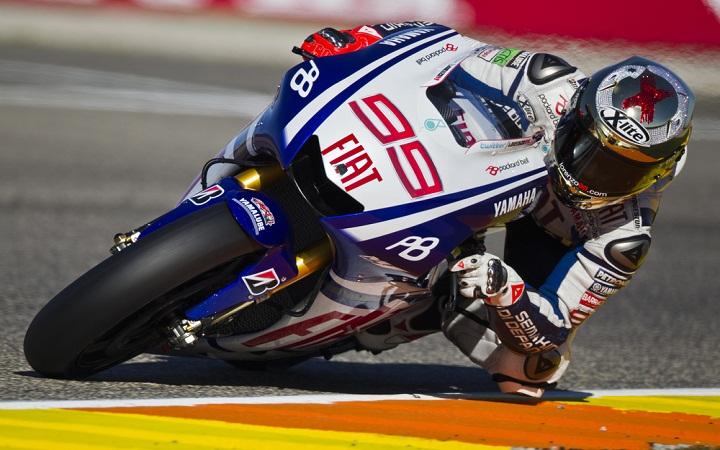 Jorge Lorenzo en plena carrera