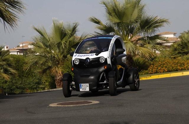 Presentación del coche eléctrico en el hotel Fuerte El Rompido. Fotografía de Jordi Landero