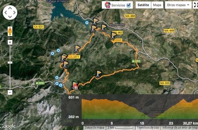 Laden Sie sich hier die Landkarte herunter sowie die GPS-Daten der Wanderstrecke Puerto de la Ribera