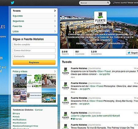 Twitter de Fuerte Hoteles
