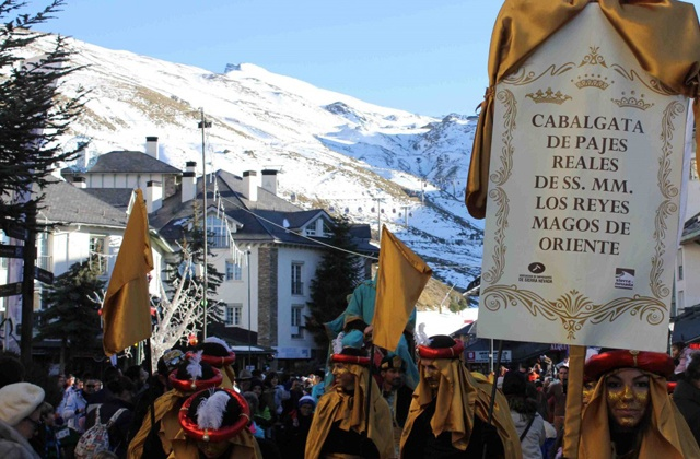 The Reyes Magos or Three Wise Men are on their way: Cabalgata de pajes Reales en Sierra Nevada