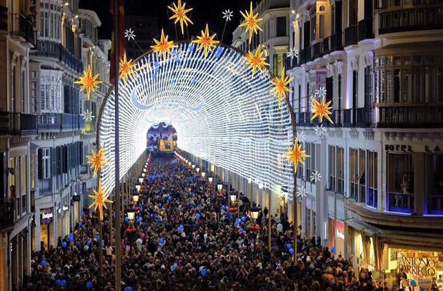 La navidad en Málaga - Calle Larios