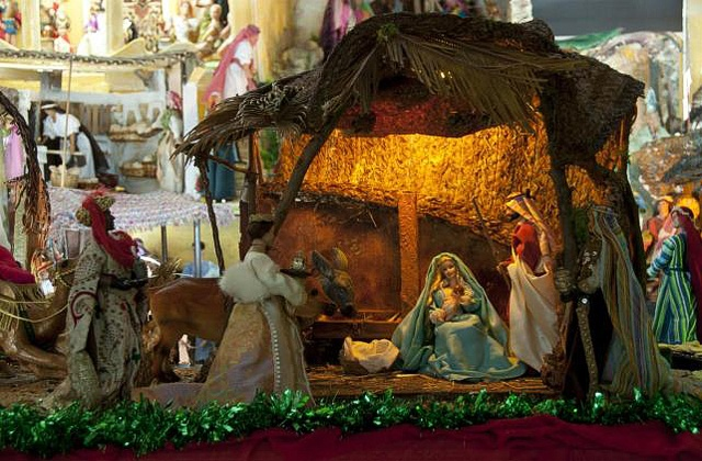 Christmas in Malaga - Barbies nativity scene