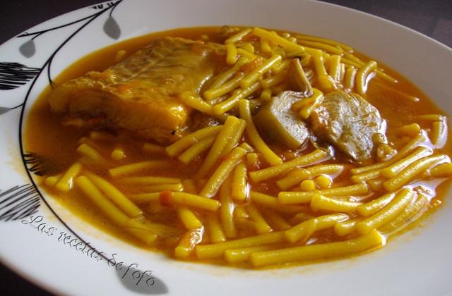 andalusische Rezepte - Cazuela de fideos (Nudelauflauf)