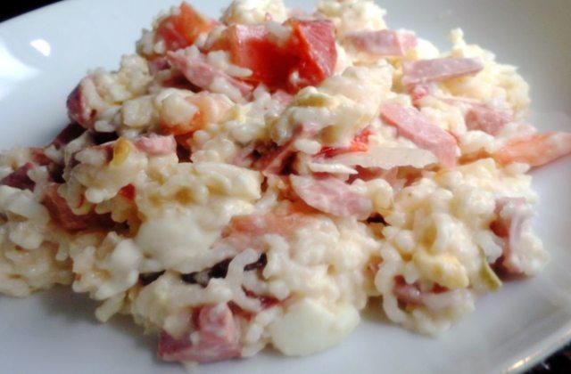 arroz con salami