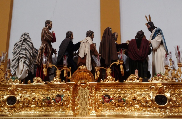 Las procesiones de Semana Santa en Andalucía - sagrada cena huelva