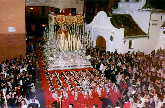 Easter Week processions- virgen de zamarrilla