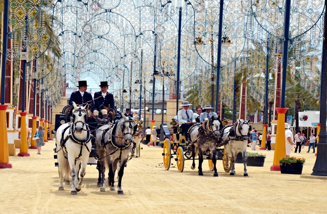 Program of equestrian activities in the Jerez Fair