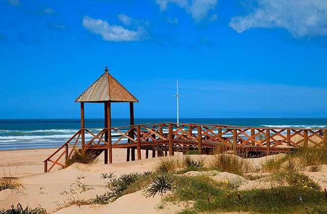 Astrotourismus - Playa de Cortadura en Cádiz