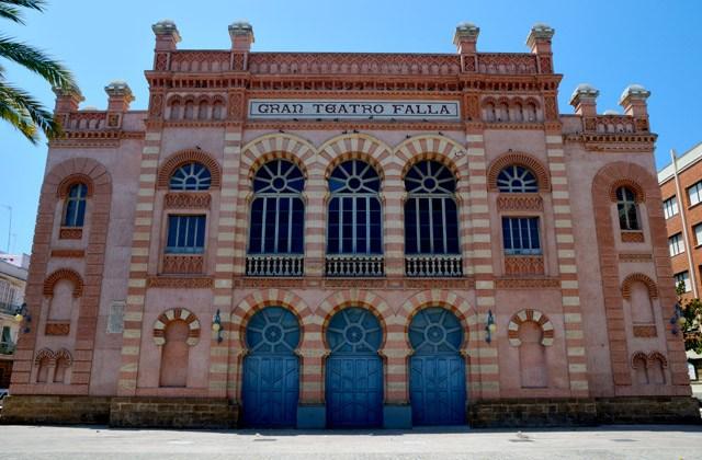 Les quartiers d'Andalousie - Teatro Falla, El Mentidero, Cádiz.