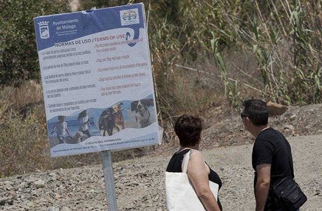 Playas para perros en Málaga - Playa Arroyo Totalán