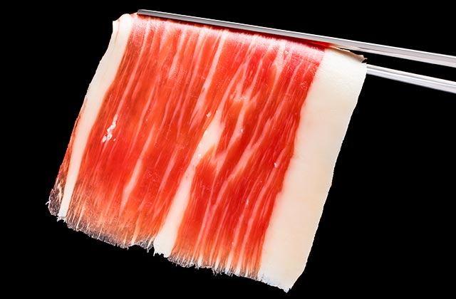 cortar jamón, lonchas finas