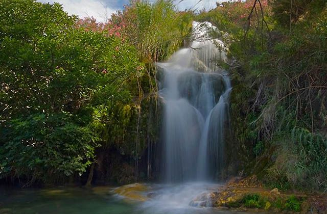 Cascadas de Andalucía - Caños del río Chillar. Fotografía de Antonio Sánchez