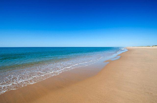 La playa de El Rompido