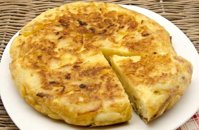 Tapas de Málaga, tortilla de patatas