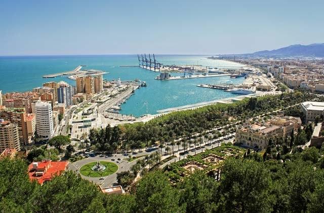Ruta Picassiana - Vistas Puerto de Málaga