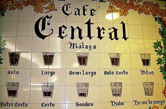 Kaffeesorten von Málaga - Café Central