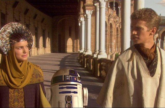 Andalucía de cine - Plaza de España en la película Stars Wars