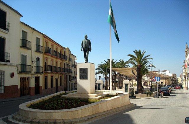Blas Infante, Statue à Archidona. Photographie: javisiles.blogspot.com