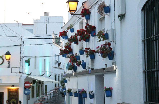 Patio andaluz en Conil. Fotografía: planesconhijos.com