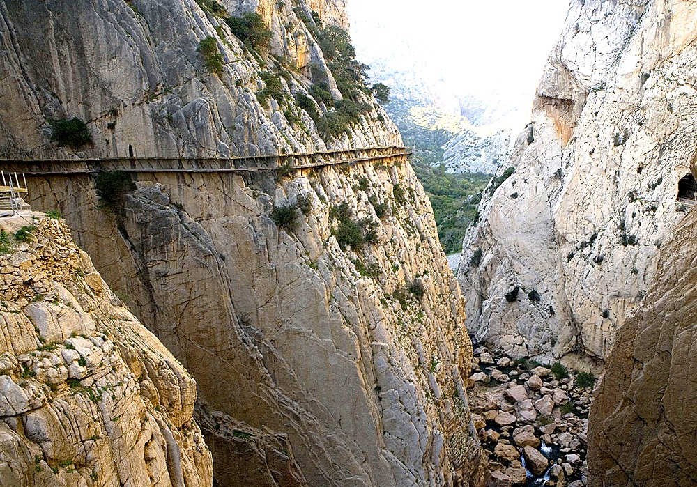 Caminito del Rey in El Chorro, Malaga