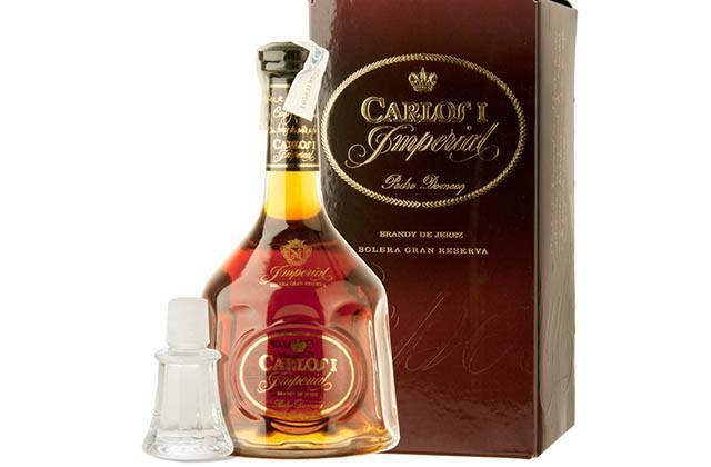 Andalucian brandies - Carlos I Imperial. Fotografía: vilaviniteca.es