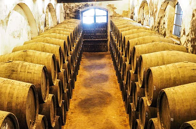 Andalucian brandy barrels