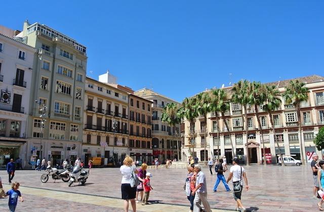 Málaga Day Trip - Plaza de la Constitución