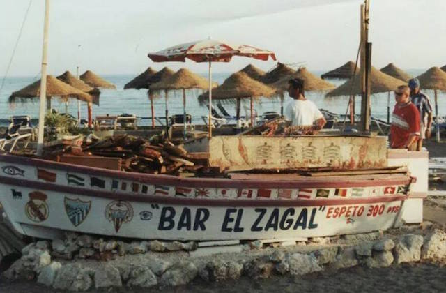 Espetos, die Sardinenspieße von Málaga - chiringuito El Zagal, El Palo