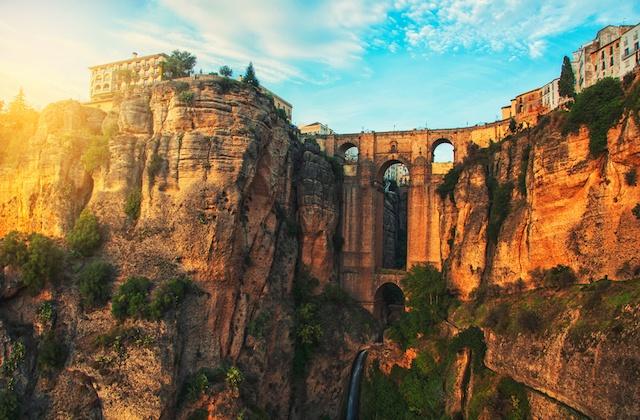 Sunsets in Andalucia - tajo de ronda