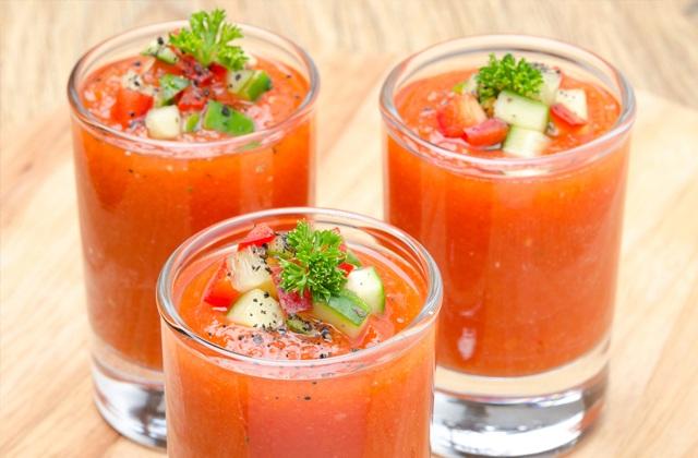 7 'superaliments' que vous devez intégrer dans votre alimentation: Gazpacho