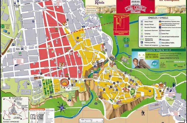 Ronda Day Trip - Mapa Turístico de Ronda