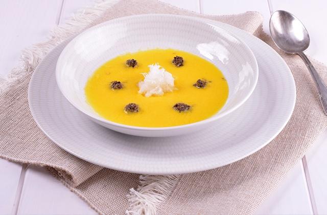 Gaspacho et salmorejo, les soupes froides les plus célèbres d'Andalousie: Salmorejo de naranja