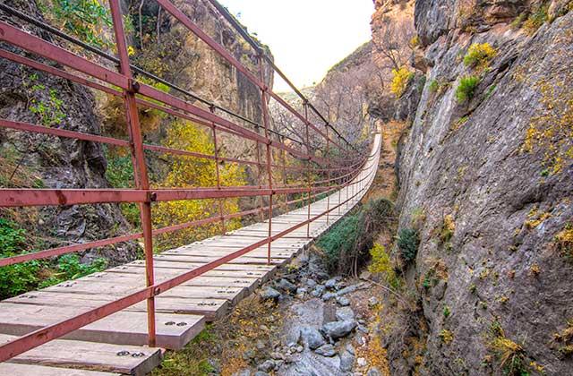 Puente colgante de los Cahorros