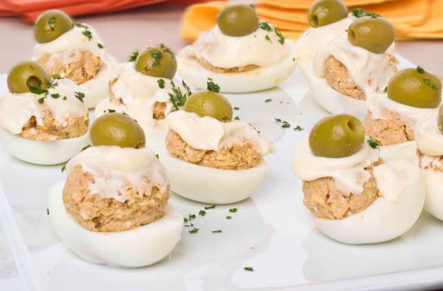 platos navideños andaluces - Huevos rellenos