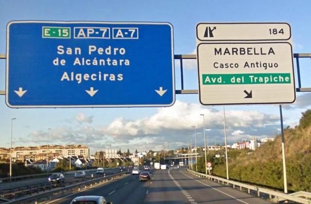 Autovia a Marbella