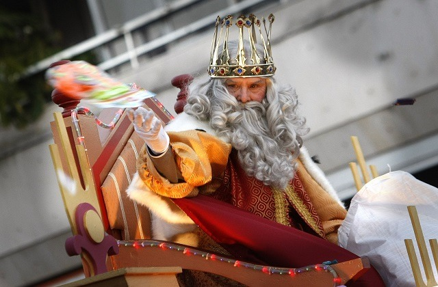 The Reyes Magos or Three Wise Men are on their way: Cabalgata