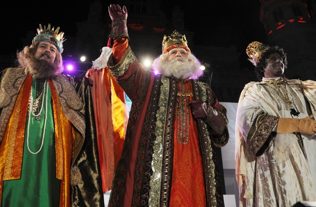 The Reyes Magos or Three Wise Men are on their way: Reyes Magos de Oriente