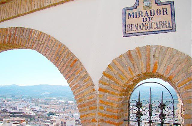 turismo á Velez Málaga - Mirador de Benamocarra