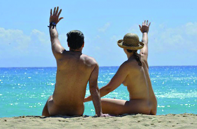 Nudist beach in benalmadena