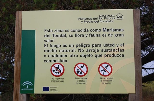 Cartel Espacio Natural Marismas del Rio Piedras