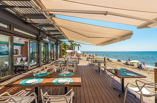 Fuerte marbella 39 s beach club grill restaurant - Sea grill marbella ...