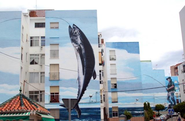 Route of Artistic Murals - Día de pesca