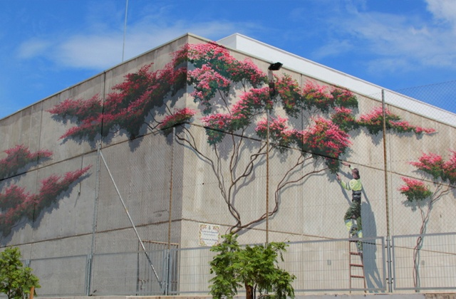 Ruta de los Murales - La poda de la Buganvilla
