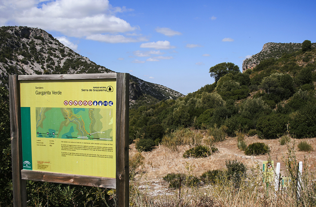 Grazalema hiking trails - GARGANTA VERDE